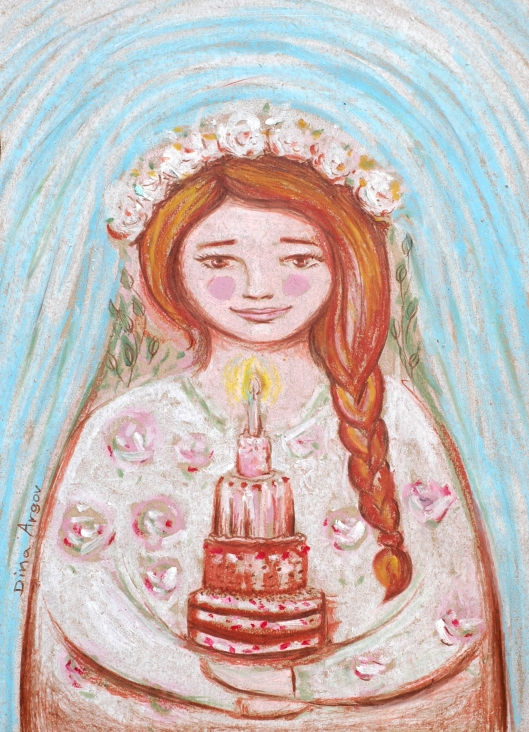 Birthday girl - Matryoshka with a cake!